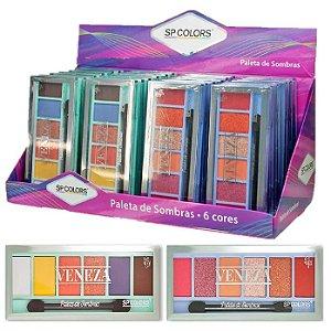 SP Colors - Paleta de Sombras Matte e 3D Venezza - 24 Unidades