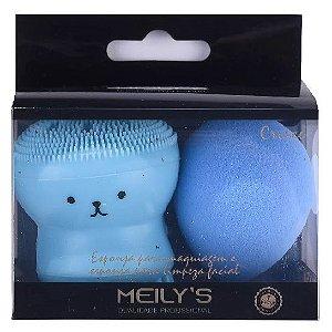 Meily's - Kit com 2 Esponjas para Maquiagem Polvo e Gota MAC21