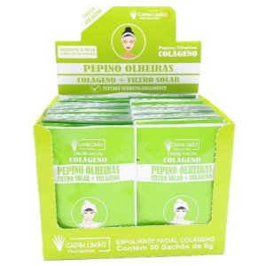 CAPIM LIMÃO - BOX Sachê Creme Pepino Olheiras SA01 - 50 unidades