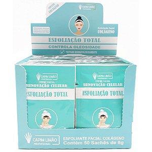Capim Limão - BOX Sachê Creme Esfoliação Total SA06 - 50 UNIDADES