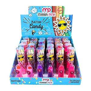 Maria Pink - Batom Cremoso Infantil Candy MP10001 - 24 Unid