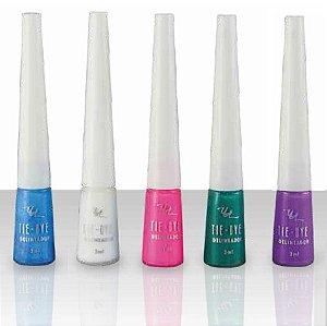 Queen - Delineador Colorido Tie Dye - 6 Unid
