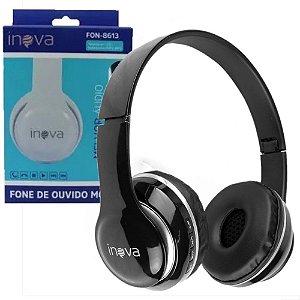 Fone de Ouvido Preto Headphone FON-8613