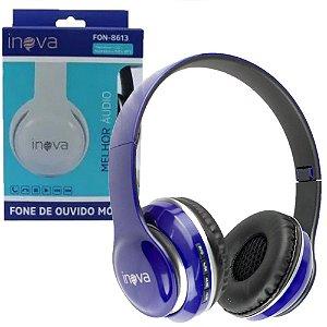 Fone de Ouvido Azul Escuro Headphone FON-8613