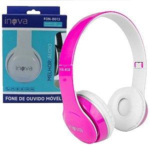 Fone de Ouvido Rosa Headphone FON-8613
