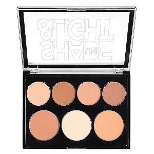 Uni makeup - Paleta de Contorno em Pó Shade & Light - 6 Unid