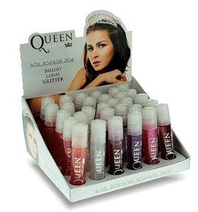 Brilho Labial com Glitter Queen ( 30 Unidades )