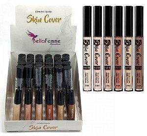 Corretivo Líquido Matte Skin Cover Bella Femme (24 Unidades)