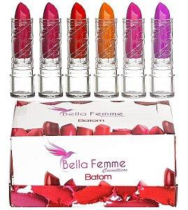 Batom Fosco Bella Femme ( 24 Unidades ) A