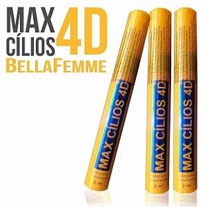 Rímel Máscara de Cìlios 4D Max Cílios Bella FemmeBF10044 ( 01 Unid )