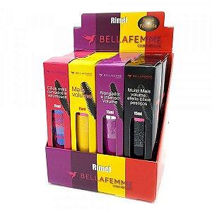 Rímel Máscara de Cìlios Colossal 4 Cores Bella Femme BF10009A ( 12 unidades ) Display