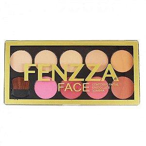 Paleta de Contorno Facial Efeito Luz e Sombra Fenzza KM-20