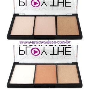 Paleta de Iluminador 3 Cores Play The Highlight2 Luisance L3008 - 02 unidades