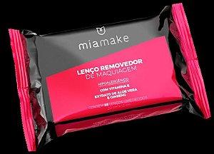 Mia Make - Lenço Removedor de Maquiagem Hipoalergênico Aloe Vera , Vitamina E e Ginseng