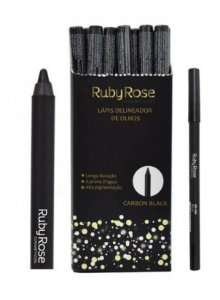 Lápis Delineador de Olhos Carbon Black Ruby Rose HB-095