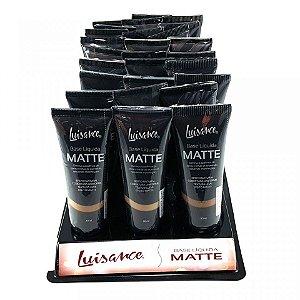 Base Líquida Efeito Matte Luisance Cores Escuras L5001B ( 24 Unidades )