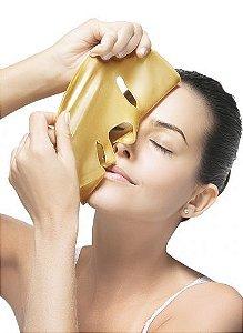 Máscara Facial Ouro Face Beautyful - Vitamina C, Colágeno e Filtro Solar ( 04 Unidades )