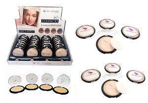 Pó Compacto Facial Cores Claras Bella Femme BF10006A8 ( 32 Unidades )