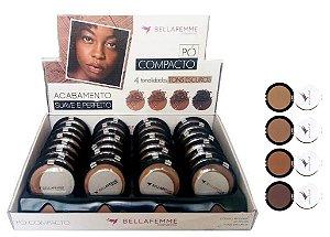 Pó Facial Compacto Cores Escuras Bella Femme BF10006-C ( 32 Unidades )
