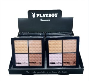 Estojo Quarteto Iluminador Playboy HB94486 ( Display com 12 unidades )