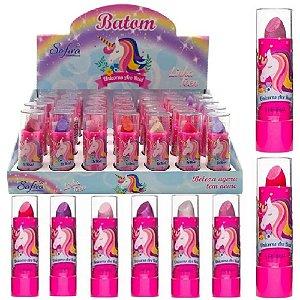 Safira - Batom Infantil Unicórnio  - Box c/ 35 unid