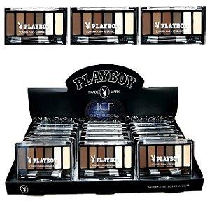 Kit completo para sobrancelhas, Sombras, Iluminador e Fixador Playboy HB94488 ( 18 Unidades )