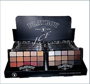 Paleta de Sombras Matte e 3D 15 Cores Playboy HB94721PB ( 12 Unidades )