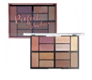 Kit de Maquiagem Ruby Rose Perfect Shading HB-7220 (  Blush, Iluminador, Bronzer e Contorno ) - 12 Unidades