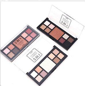 Kit de Maquiagem Vivai 2 em 1 ( Sombras e Blush, Iluminador ou Bronzer ) 03 Unidades
