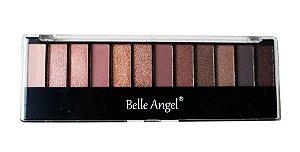 Paleta de Sombras Matte e Cintilantes Belle Angel B012-3