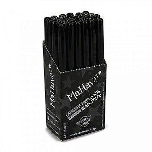 Lapiseira Retrátil para Olhos Mahav Cor Carbon Black Fosco - Box com 24 unidades ( Resistente a Água )