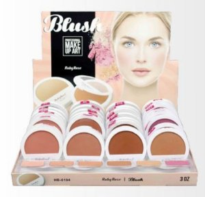 Display de Blush Ruby Rose HB 6104 Make Up Art ( 36 Unidades e Provadores )