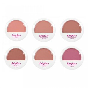 Blush Compacto Facial Ruby Rose HB-6104  ( 6 unidades )