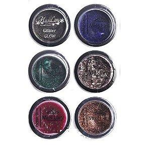 Sombra Glitter Moldado Glow Miss Lary  ML506 ( 6 Unidades )