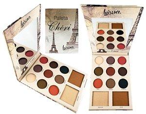 Paleta de Luxo com 9 Sombras, Blush e Iluminador Cheri Luisance L6057 ( 12 Unidades )