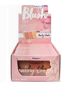 Trio de Blush Pink Cheeks Ruby Rose HB6111A ( 12 Unidades )