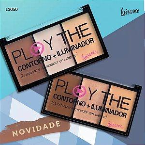 Paleta de Trio de Contorno e Iluminador Luisance L3050 ( 12 Unidades )