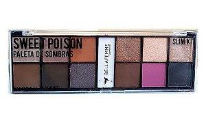 Paleta de 12 Sombras e Primer Fixador Sweet Poison BF10056C