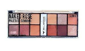 Paleta de 12 Sombras e Primer Fixador Naked Rose BF10056A