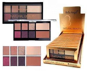 Paleta de Sombras de Alta Pigmentação e  Contorno Facial Belle Angel Natural Beauty T012