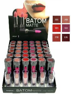 Batom de Luxo Matte Ruby Rose HB8518 Group 5 ( 6 Unidades )