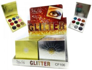 Paleta de Glitter 9 Cores My life  Fall In Love CF106 ( 24 Unidades )