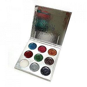 Paleta de Glitter Gel My life CF106 ( Prata )