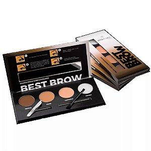 Paleta para Sobrancelhas Best Brown Mia Make Pro 15014