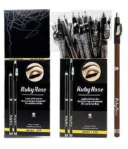 Lápis para Sobrancelhas Ruby Rose Marrom Universal HB093-C1 ( 36 Unidades )