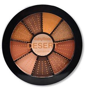 Paleta de 9 Sombras e Primer Desert Ruby Rose HB9986 - 7