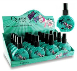 Fixador de Maquiagem Spray Make Fix Queen - Display com 16 unidades