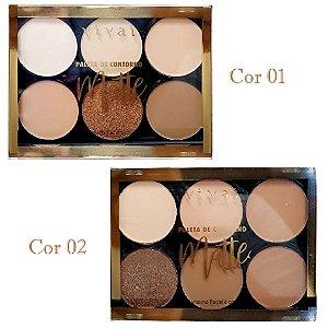 Paleta de Pó de COntorno Facial Matte Vivai 1052 - 2 Unidades ( 1 e 2 )