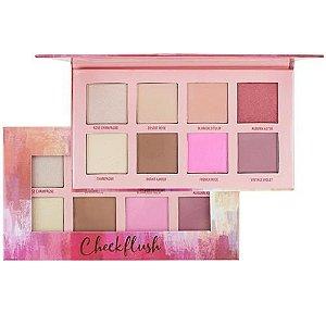 Paleta de Contorno Blush e Iluminador Ruby Rose  Cheekflush HB 7507 ( 12 Unidades )