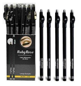 36 Lápis de Olho Preto Ruby Rose HB091